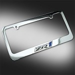 Corvette C6 ZR1 License Plate Frame Chrome