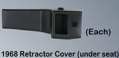 1968 C3 Seat Belt Retractor Cover Underseat - Each