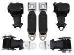 C3 1972-73 Corvette Seat Belts Dual Retractors, Pair, Economy