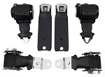 C3 1972-73 Corvette Seat Belts Dual Retractors, Pair, OE Style