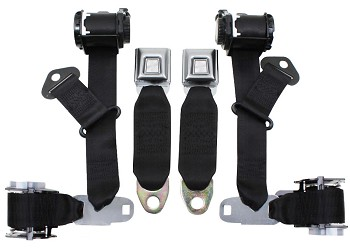1974-77 C3 Corvette Seat Belts Dual Retractors Pair Economy