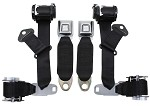 1974-77 C3 Corvette Seat Belts Dual Retractors, Pair, Economy