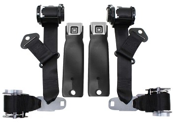 C3 1974-77 Corvette Seat Belts Dual Retractors, Pair, OE Style