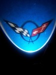 Corvette C5 LED Projector Lights - Crossed Flags 97-04
