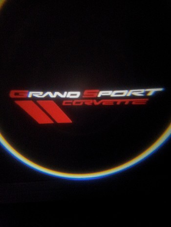 Corvette C6 LED Projector Lights - Grand Sport Logo