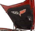 C6 Corvette Painted Hood Liner - Cross Flags