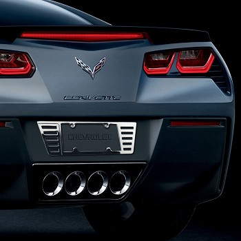 C7 Corvette Stingray 2014+ Chrome Billet License Plate Frame