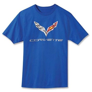 Corvette C7 Rendered Crossed Flags T-Shirt