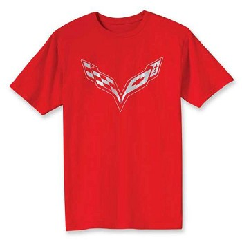 Corvette C7 Stingray Crossed Flags T-Shirt