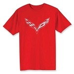 C7 Corvette Stingray/Z06/Grand Sport 2014+ Crossed Flags T-Shirt