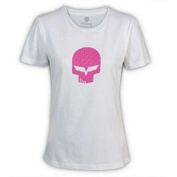 Corvette C6 Women's Pink Jake T-Shirt,White
