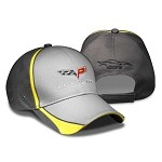 Corvette C6 Crossed Flags Charcoal Sandwich Bill Cap