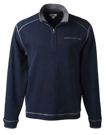 Corvette Men's C7 Half Zip Fleece