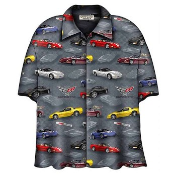 C5 Corvette Camp Shirt, David Carey Design