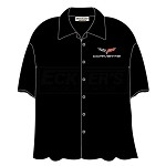 C6 Corvette Camp Shirt Black, David Carey Design