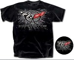 Corvette C5 T-Shirt Spatter Black