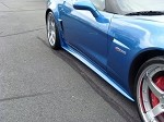 Corvette ZR1 Style Side Skirts Custom Painted (2006-Current Z06/Grand Sport & ZR1 Only)
