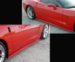 Corvette ZR1 Style Side Skirts Custom Painted : 2005-Current Base C6 only