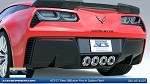 C7 Corvette Z06 2015+ Stingray ACS Carbon Flash Rear Diffuser Fins