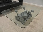 C5 C6 LSX Corvette V8 Engine Block Coffee Table