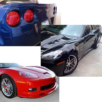 Corvette ZR1 Style Ground Effects Package Custom Painted : 2005-Current Base C6 Only