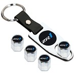 C6 Corvette 2010-2013 Valve Stem Caps w/ZR1 Logo - Optional Key Chain