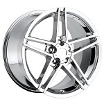 C6 Corvette 05-13 Z06 Style Corvette Wheels Set Chrome No Rivets 18x9.5/19x12