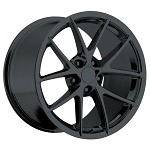 Corvette C6 05-13 Spyder Style Wheels Gloss Black Set 18x9.5/19x12