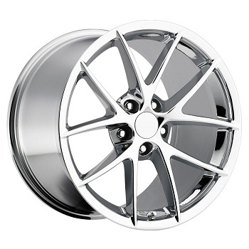 CORVETTE C6 2005-2013 SPYDER CHROME WHEEL SET 18X8.5/19X10
