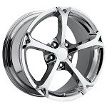 Corvette C5/C4 97-04 84-96 Fitments 2010 Grand Sport Style Corvette Wheels Set : Chrome 17x8.5/18 x 9.5