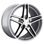 Corvette C6 Z06 Comp Gray With Machined Face Motorsport Wheels 19x9.5/20x11