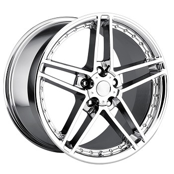 Corvette C6 Z06 Chrome Motorsport Wheels 18x8.5/19x10