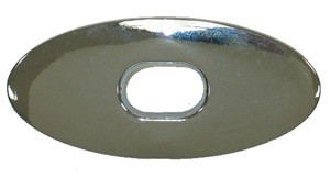 1968-1975 C3 Corvette Softtop Rear Latch Bezel (Chrome)