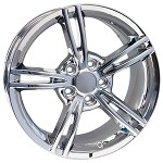 Corvette C6 06-13 2008 Style Split Spoke Corvette Wheels - Chrome 18x9.5/19x11