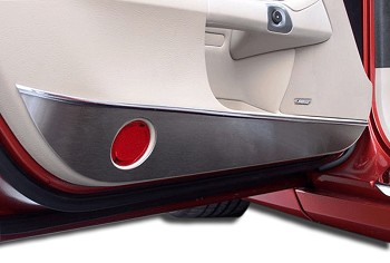 Corvette C6 Brushed Stainless Door Guards