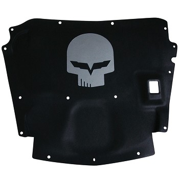 Corvette C6 Hood Liner with Jake Skull Emblem