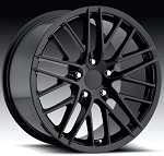 Corvette C5/C4 97-04 89-96 Fitments C6 ZR1 Style Wheels Set  Gloss Black 18x8.5/19x10