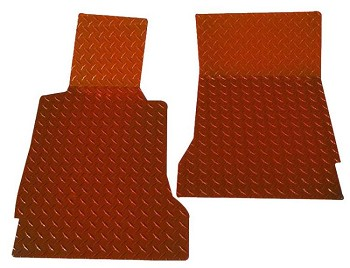C6 Corvette Diamond Plate Floor Mats - Painted!