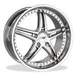 Corvette C5 C6 SR1 Performance Wheels BULLET 18x8.5/19x10 FULL SET (4)