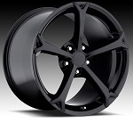 Corvette C5/C4 97-04 84-96 Fitments 2010 Grand Sport Style Corvette Wheels Black Set 18x9.5/19x10