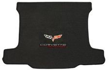 C6 Corvette Lloyds Cargo Velourtex Mat - Corvette Racing & Cross Flags
