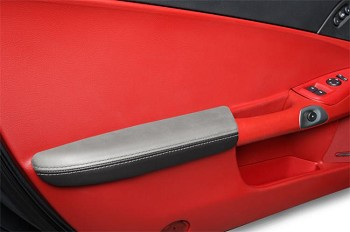 C6 Corvette Leather Armrests - Two Tone