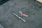 C6 Lloyds Velourtex Coupe/Vert Cargo Mat Cross Flags & Lettering