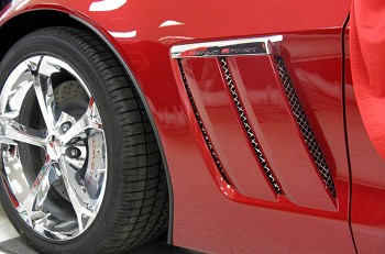Corvette C6 Grand Sport 6-pc Laser Mesh Side Fender Inserts