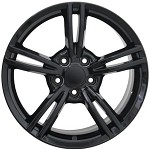 Corvette C4 C5 84-04 C6 Style Split Spoke Wheels Black 17x8.5/18x9.5