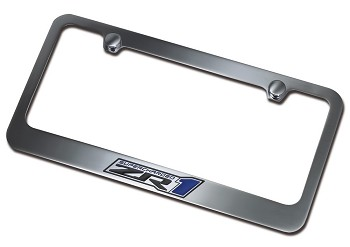 Corvette C6 ZR1 2009-13 License Plate Frame Chrome