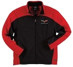 C6 Corvette Mens Bonded Hexport Jacket - Red / Gray Options