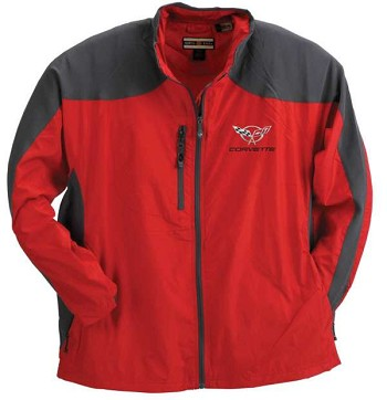 C5 C6 Corvette Jacket, Hybrid, Red/Gray