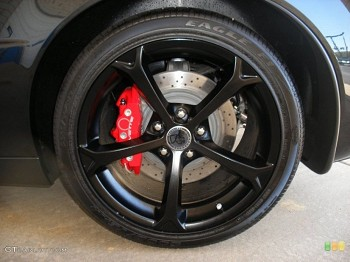 GM OEM C6 Grand Sport Corvette Centennial Edition Black Wheels