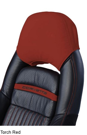 Corvette C5 Leather Headrest Covers Solid Colors - Pair